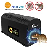 P PURNEAT Electronic Mouse Rodent Traps Electronic,High Voltage Emitting,Effective and Powerful Killer for Rat,Squirrels Mice and Similar Rodents (1pc,Rat Trap) (Tamaño: 1pc,rat trap)