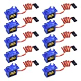 Longruner SG90 Micro Servo Motor 9G RC Robot Helicopter Airplane Boat Controls KY66 (KY66-10) (Color: KY66-10)