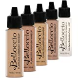 Belloccio Medium Color Shades Airbrush Makeup Foundation Set
