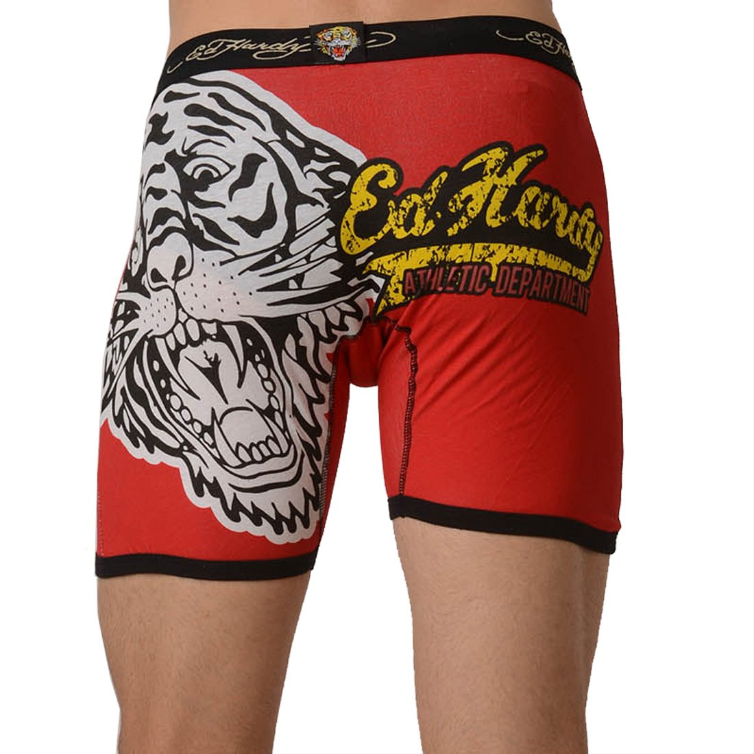 Мужские боксёры-брифы Ed Hardy Men's Tiger Vintage Boxer Brief - Black