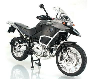 BMW R1200 GS moto en alliage modele de jouets Vehicule Miniature Echelle 1/9 (GRIS)