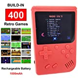Mini Retro Handheld FC Games Consoles ,Built-in 400 Classic Game, Portable Gameboy 3 Inch LCD Screen TV Output ,Good Gifts for Kids Boys Girls Men Women (Games Consoles Red) (Color: Games Consoles Red)