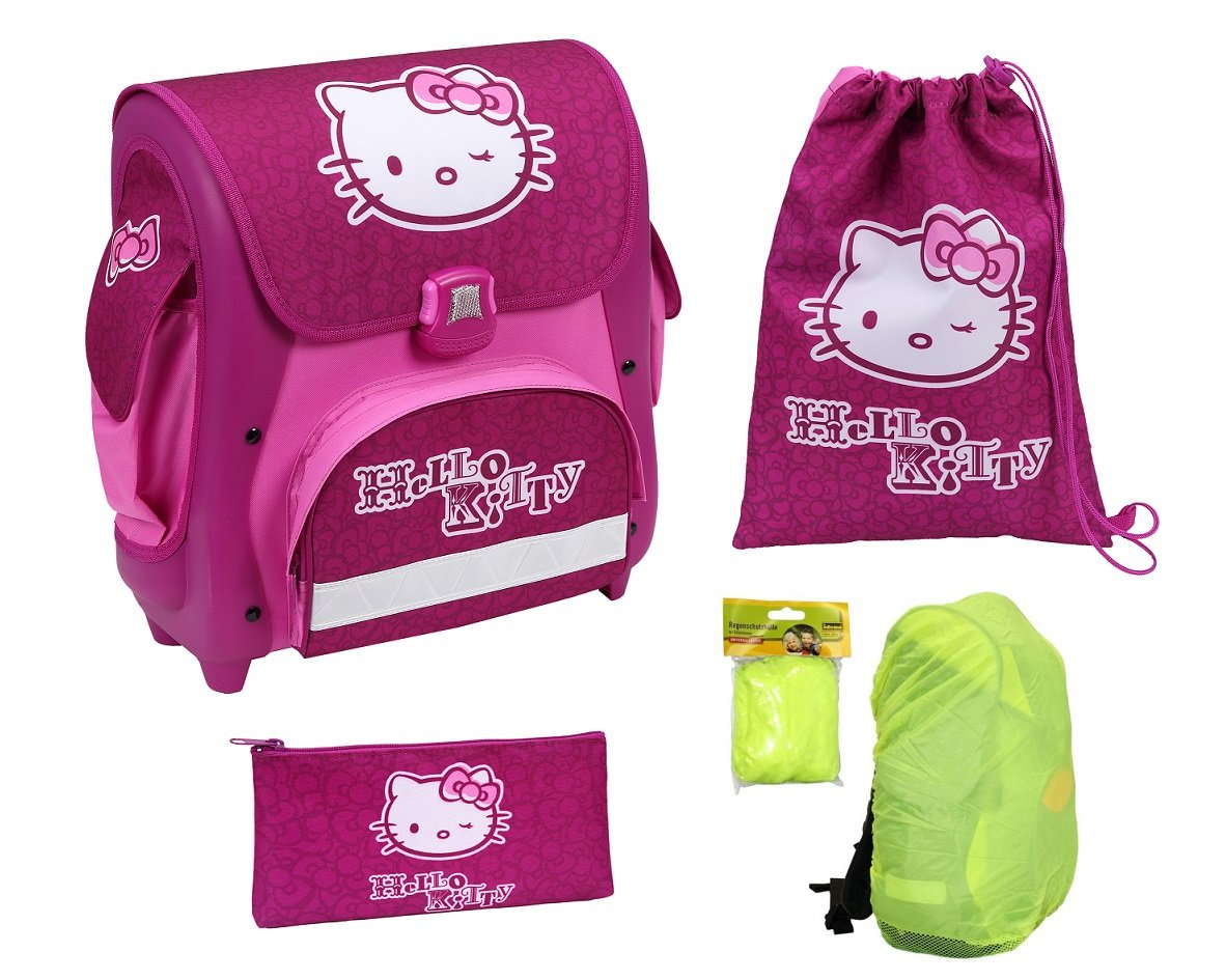 Undercover HK12847 – Schulranzen Set Cube, Hello Kitty, 3-teilig bestellen