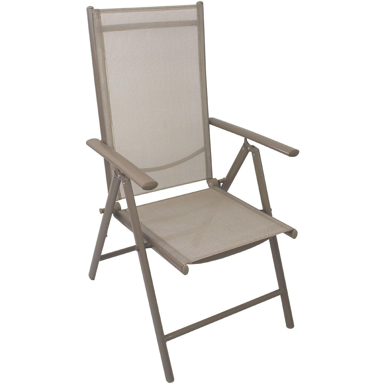 6 Stück Aluminium Hochlehner Gartenstühle, hochwertige 4×4 Textilenbespannung, 8-fach verstellbar, klappbar, Champagner – Gartenstuhl Liegestuhl Positionsstuhl Klappstuhl Gartenmöbel Terrassenmöbel Balkonmöbel online kaufen