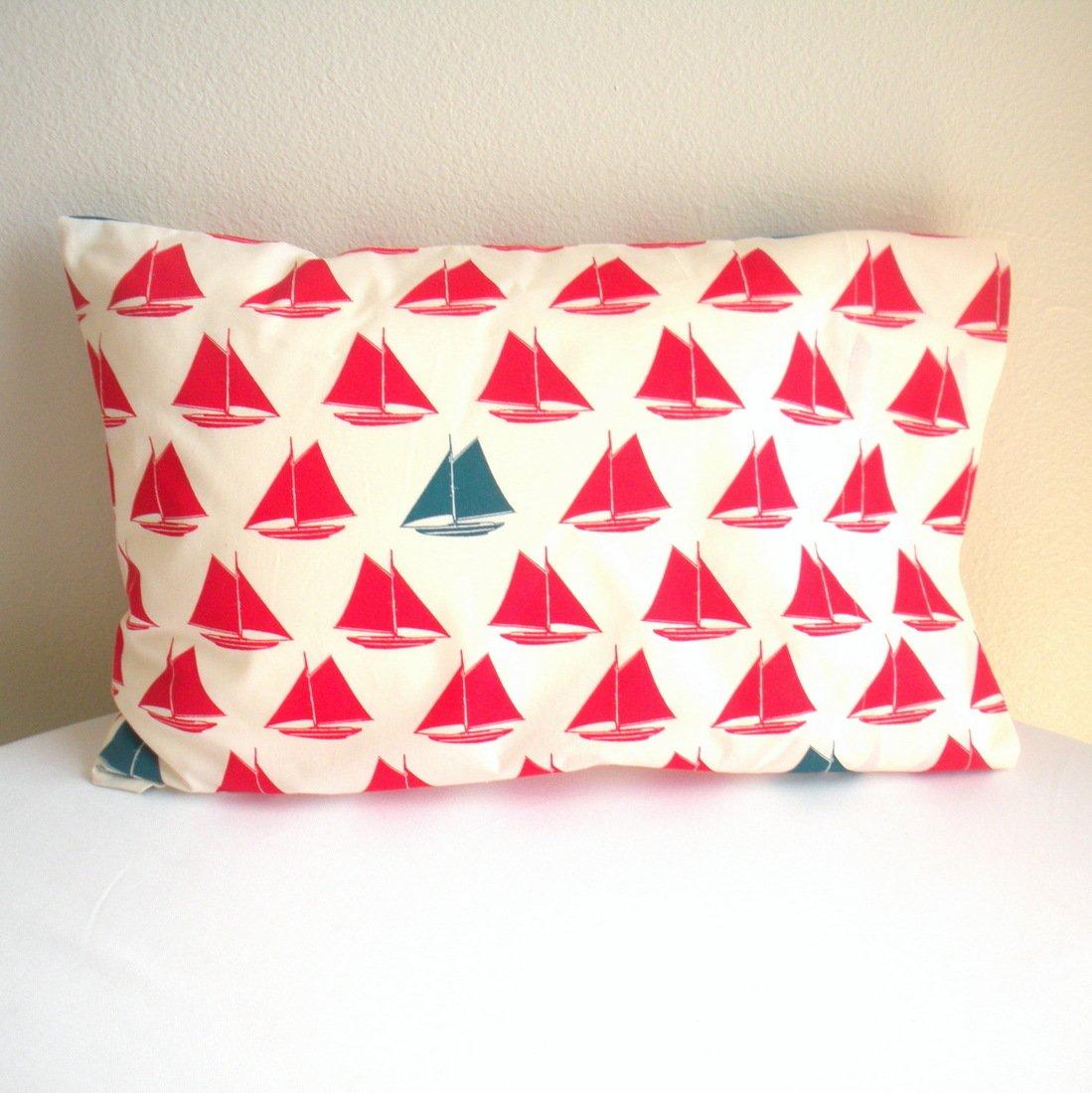 Island Picnic Organic Cotton Toddler/Travel Pillowcase - Red Sailboats 10pcs wick n vape cotton bacon v2 organic