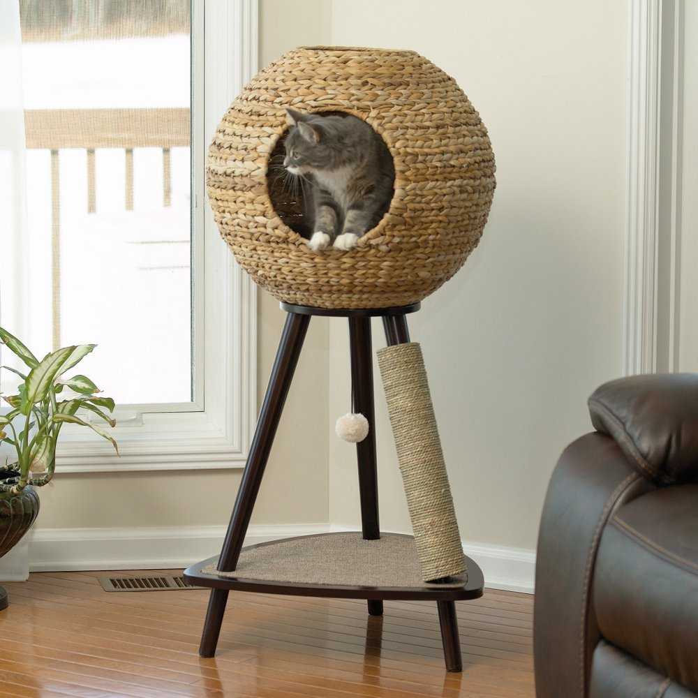 Sauder Natural Sphere Cat Tree Without Carpet