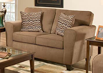 Chelsea Home Furniture Zola Loveseat, Luminaire Kahlua