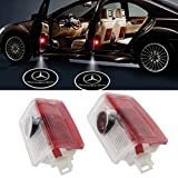 Aukur 2PCS Car Logo Projector Car Step Door Courtesy Welcome Light Ghost Shadow for Mercedes-Benz