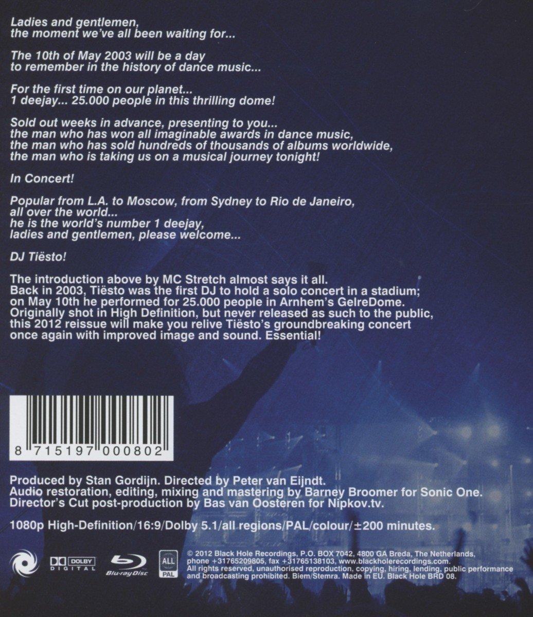 Tiesto Concert 2004 Tiesto in Concert Blu-ray