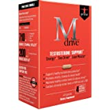 Mdrive Prime Testosterone Support with DHEA, KSM-66 Ashwagandha and LJ100 Tongkat Ali, 60 Capsules (Tamaño: 30-day supply)