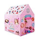 Anyshock KidsPlay Tent Princess Playhouse Castle Tent Birthday Cake Tent for Girls Indoor & Outdoor Kids Play Tent House Toy, Big Enough for 2-3 Little Kids Best Gifts for 1-8 years old Kids/boy/girl (Color: Cake Tent-pink)