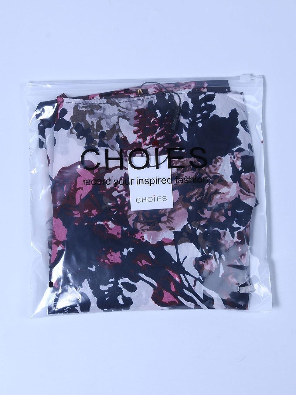 Choies Women's Chiffon Floral Kimono Loose Kimono Cardigan Blouse 6