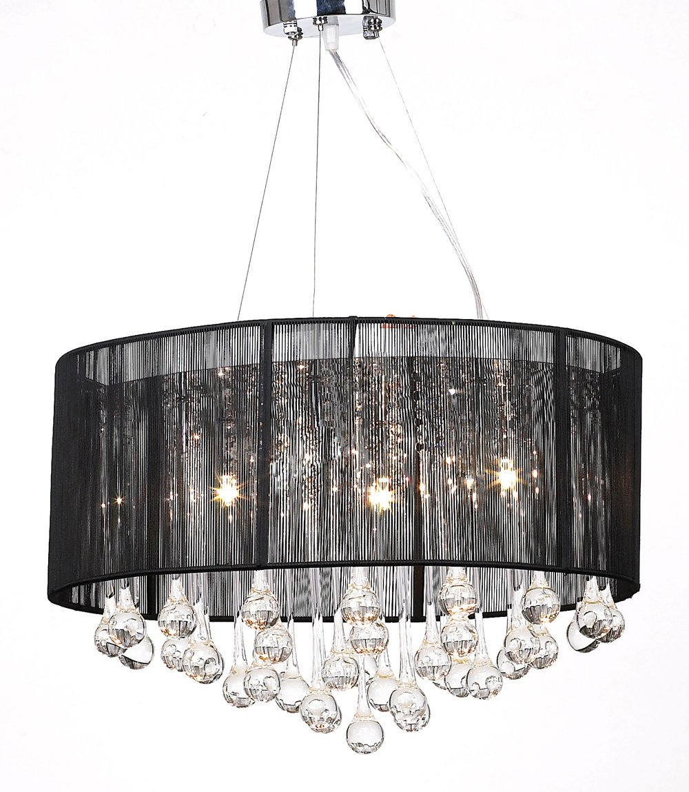 Chandelier with 85 Crystals Black Light  Lamp       Customer review
