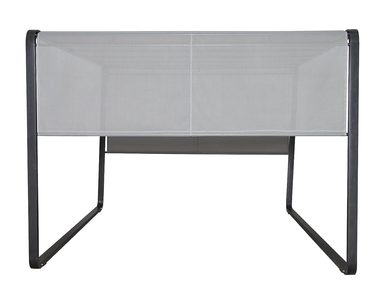 Leco Milano, Aluminiumrahmen und Stahldachrohre mit Pulverbeschichtung, anthrazit, Kunststoffgewebe 1 x 1, lichtgrau kaufen