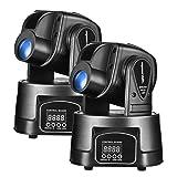 Eyourlife 15W LED Moving Head Light DMX 512 RGBMini Moving Beams for DJ Party Disco KTV Nightclub Lives 2pcs (Color: black, Tamaño: 2pcs 15W Moving Head)