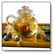 Primula PTA-4009 Flowering Teapot Set With Infuser And Variety of Loose-Tea Pack