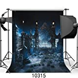 SJOLOON 10x10FT Halloween Backdrop Horror Night Backdrop Computer Printed Photography Backdrop Halloween Theme Photo Background JLT10315 (Color: 10315 10x10, Tamaño: 10X10FT)