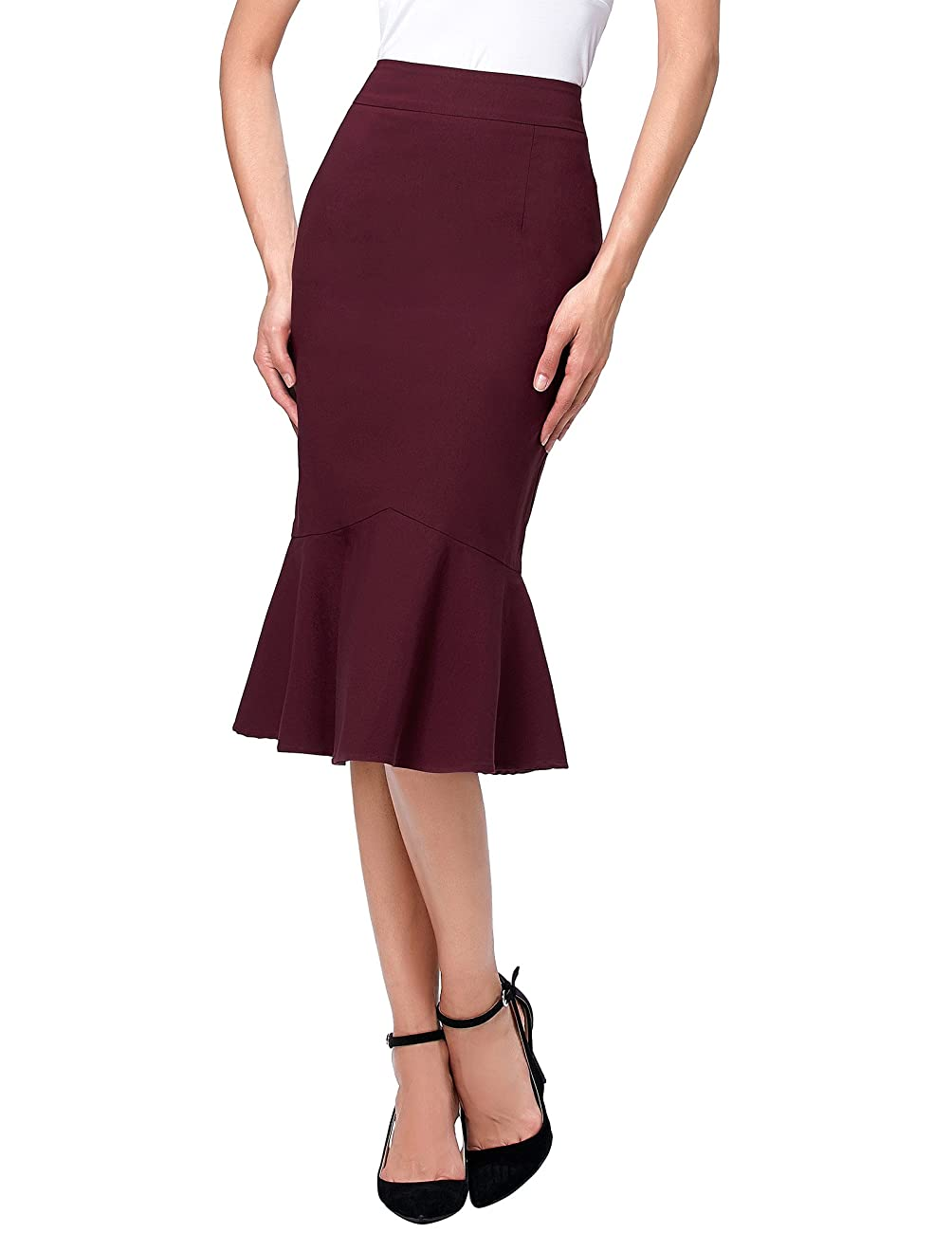 Kate Kasin Womens Wear to Work Stretchy Pencil Skirts 0