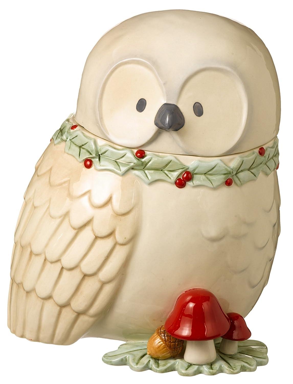 Winter Owl Cookie Jar