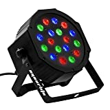 Eyourlife 18X3W Par Light LED Stage Light 54W RGB DMX 512 Stage Lighting Effect for DJ Bar Events Club Home Wedding Party Lighting