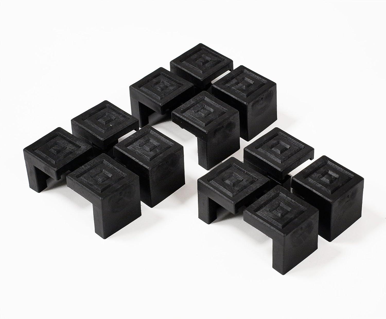 Bodenschoner Satz für Festzeltgarnitur, Kunststoff schwarz, 12-teilig