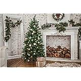 Daniu Baby Background Christmas Trees Festival Vinyl Photography Backdrops Wooden Floor 7x5FT Daniu-Christmas127 (Color: Daniu-Christmas127, Tamaño: 7x5FT (210cm X 150cm))