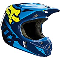Fox Racing Blue/Yellow V1 Race DOT Helmet