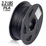 Dikale PLA 3D Printer Filament - 1KG(335m/1099ft) 1.75mm, Dimensional Accuracy +/- 0.02 mm, 1KG Spool 1.75 mm, Black (Color: PLA2.2lbs-Black(335m/1099ft))