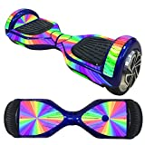 FBSport 6.5 inches Self Balancing Scooter Sticker Decal Protective Vinyl Skin Two Wheels Wrap Cover Case Hoverboard Multicolor (CD-1)