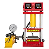 VEVOR Heat Press 4.7X4.7 Inch Heat Press Machine 5 Tons Pressure Dual Heating Machine with LCD Display and Control Box (Color: Red Dual Heated Plates, Tamaño: 4.7X4.7 Inch)