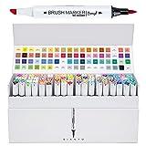 Bianyo Brush Marker Pen Set-Soft Brush & Broad Tip (72 Color.) (Color: 72 Color.)