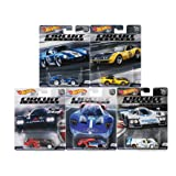 2018 Hot Wheels 50th Anniversary 1:64 Car Culture Circuit Legends Series Set of 5 Diecast Cars