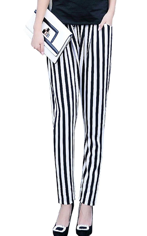 (アールポート) R-port レディース ストライプ スラックス パンツ : 服&ファッション小物通販 | Amazon.co.jp
