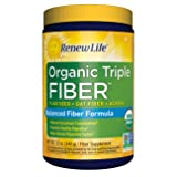 Renew Life - Organic Triple Fiber powder - constipation relief - digestive health - 12 ounces (Tamaño: 12 oz)