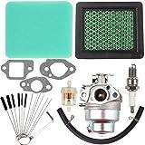 Dalom GCV160 Carburetor + Carb Cleaning Tool + 17211-ZL8-023 Air Filter Tune Up Kit for Honda GCV160A GCV160LA GCV160LE Engine HRB216 HRR216 HRS216 HRT216 HRZ216 Lawn Mower # 16100-Z0L-023