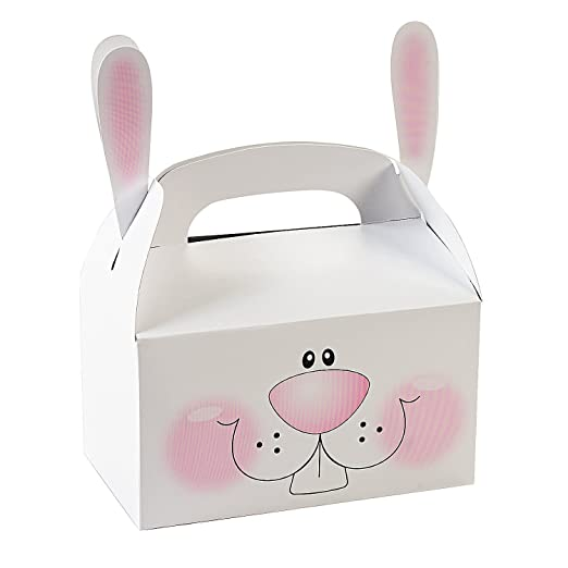 Easter party favor boxes easter wikii each paper basket comes in assorted colors and measures 2 12 x 1 12 x 4 fill these mini baskets with candy treats or toys and make easter a little negle Images