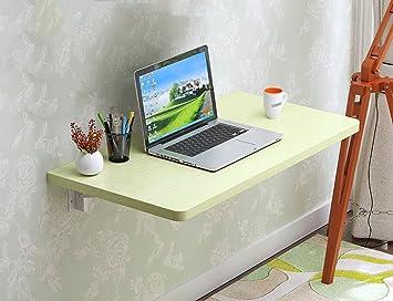 HWF Mesa plegable de pared Mesa de pared Mesa plegable Mesa de comedor Ordenador Escritorio Escritorio Trabajo de aprendizaje Hogar Blanco de color de arce ( Color : White maple color , Tamaño : 120*30cm )