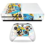 MightySkins Skin for Microsoft Xbox One S - Cut Up Art | Protective, Durable, and Unique Vinyl Decal wrap Cover | Easy to Apply, Remove, and Change Styles | Made in The USA (Color: Cut Up Art, Tamaño: Microsoft Xbox One S)