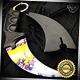 KARAMBIT NECK KNIFE Hunting BOWIE Fixed Blade Case Hardened NEW - Outdoor For Camping Hunting
