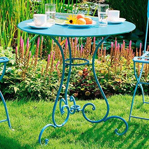 Gärtner Pötschke Bistro Tisch hellblau günstig online kaufen