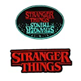 Stranger Things Blue/Red Oval Cutout 2PK Iron On Patch InspireMe Family Owned (Tamaño: 6