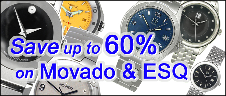 Movado and Esq Watches upto 60% off