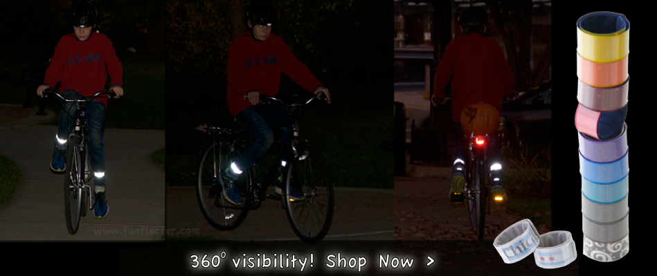 Surround visibility with funflector wraps - traffic safety, bike safety