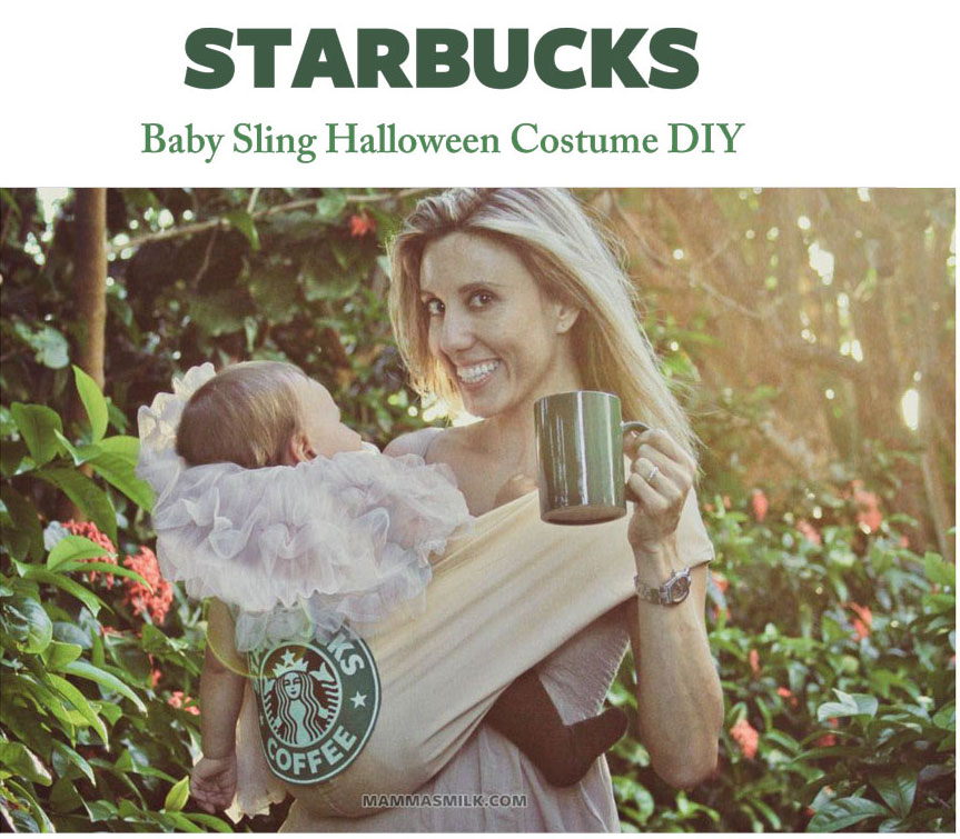 starbucks baby toddler halloween costume DIY