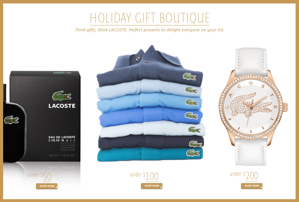 Shop Lacoste Holiday Boutique