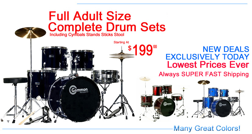 Full adult size drum sets for sale cheap wholesale discount