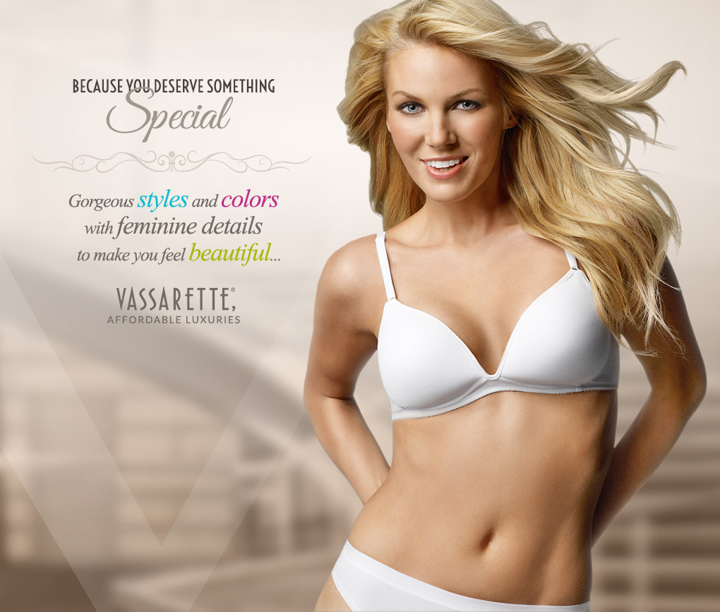 Beautiful Young Blonde Woman Wearing Vassarette Level 1 Bra