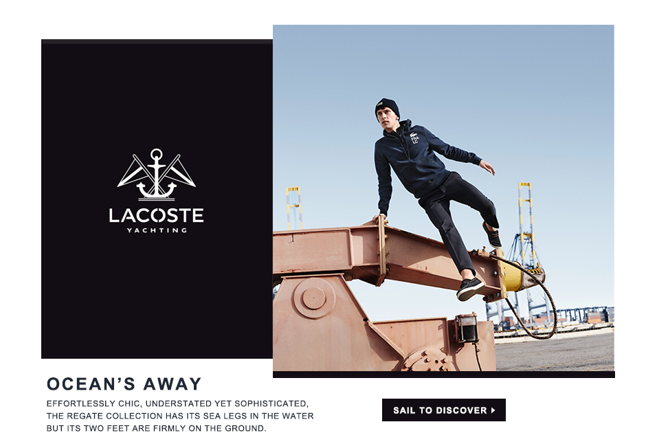 Shop Lacoste Regate Collection