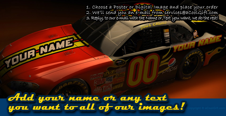 Custom Race Car Poster by aCoolGift.com