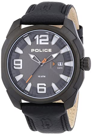 montre police bracelet cuir